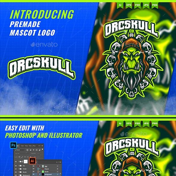 Skull Orc Monster - Mascot Esport Logo Template