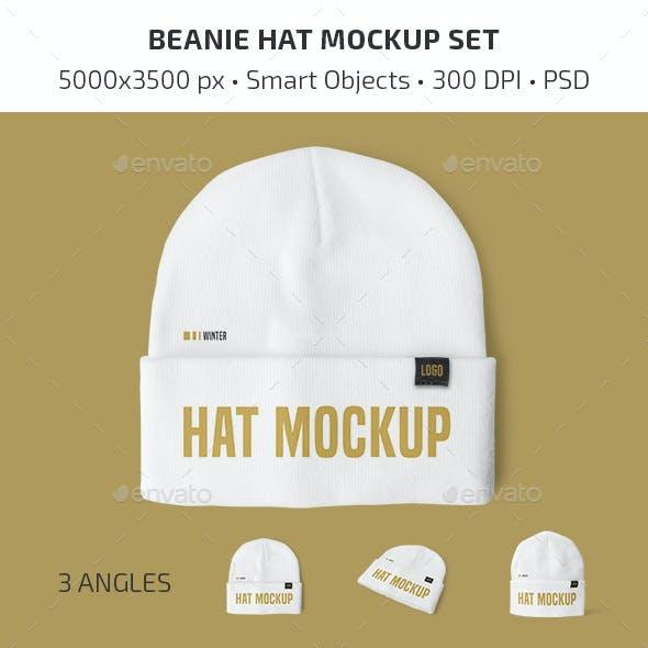 Beanie Hat Mockup Set