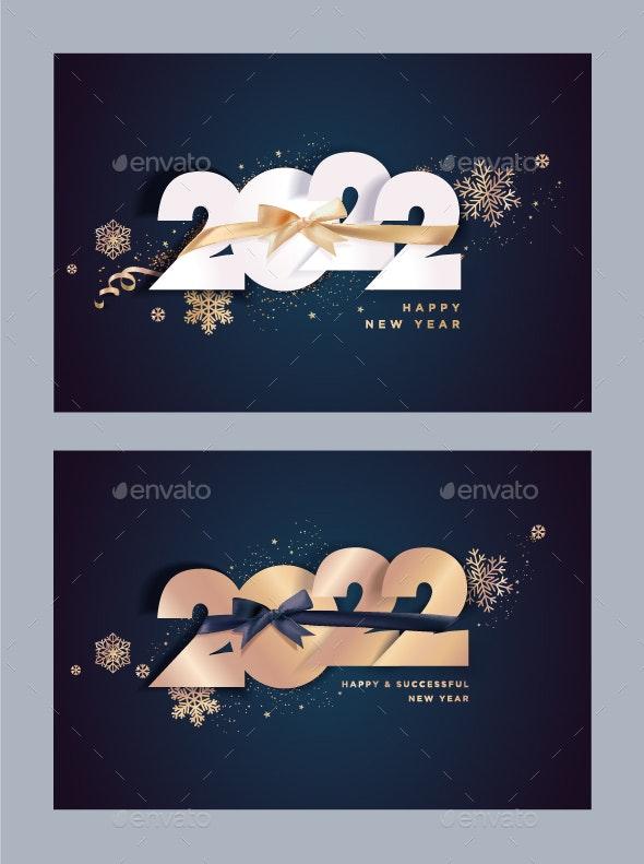 Happy New Year 2022 Greeting Cards - New Year Seasons/Holidays