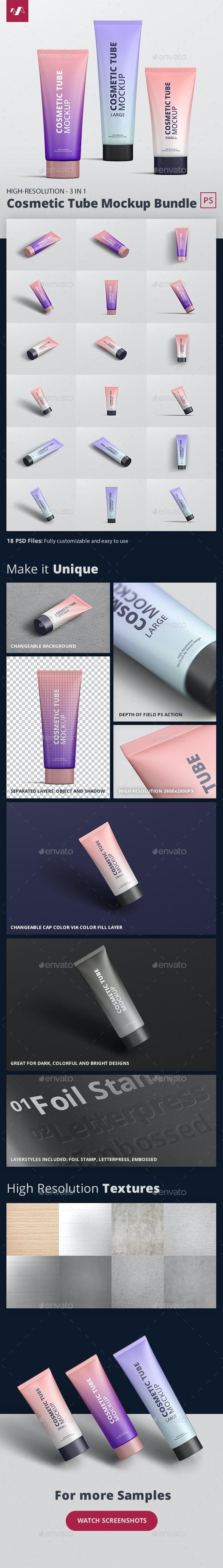 Cosmetic Tube Mockup Bundle - Beauty Packaging