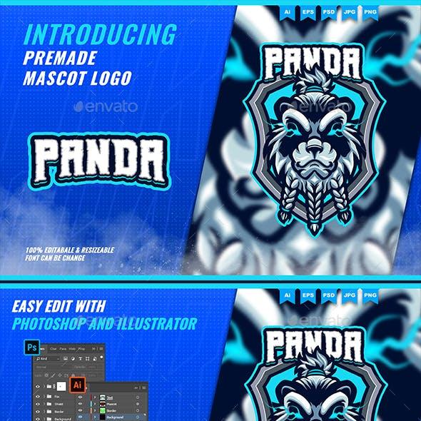 Pandamonk - Mascot Esport Logo Template