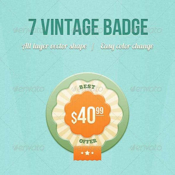 7 Vintage Badge