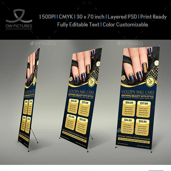 Nail Salon Signage Banner Roll Up Template Vol.2