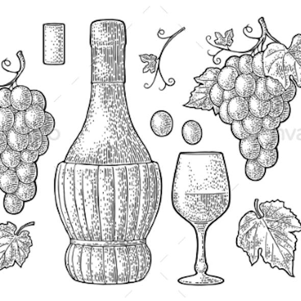 Set for Wine Shop