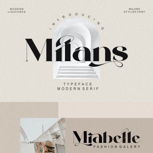 Milans_Typeface Modern Serif