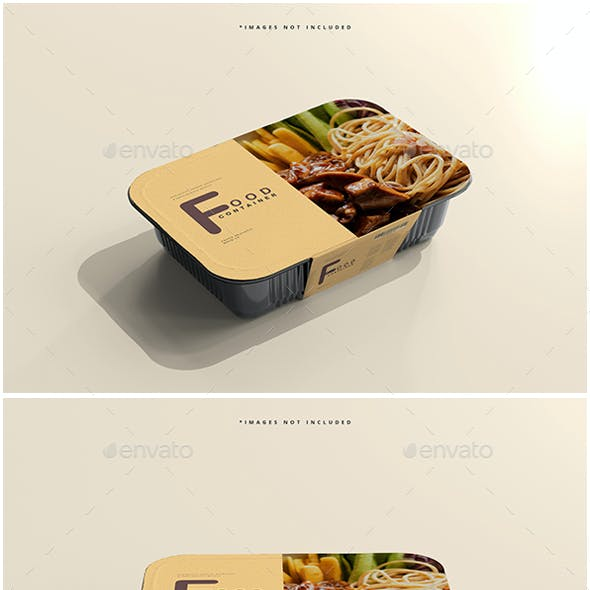 Large Size Food Container Mockups