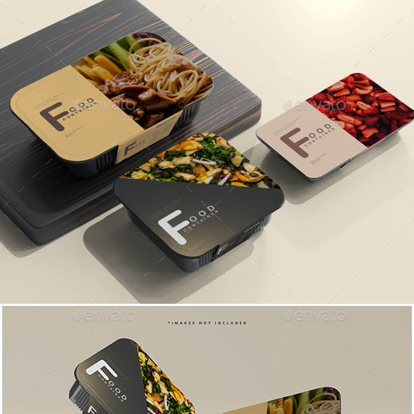Food Container Mockups