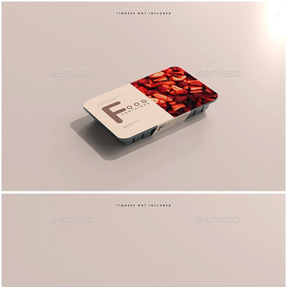 Small Size Food Container Mockups