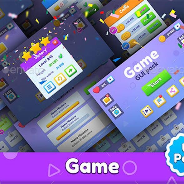 Purple GUI game pack
