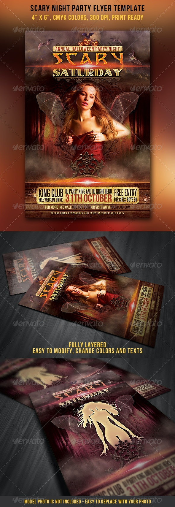 Scary Night Party Flyer - Clubs & Parties Events