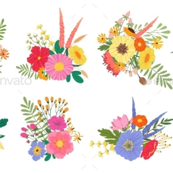 Spring Blooming Flower Bouquets Floral Wedding