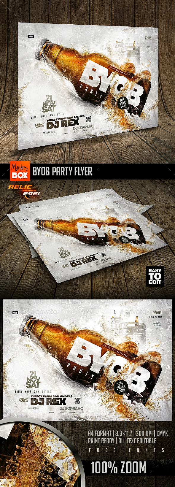 BYOB Party Flyer - Events Flyers
