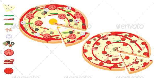 Pizzas and Spices - Food Objects