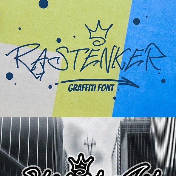 RASTENKER - Graffiti Font