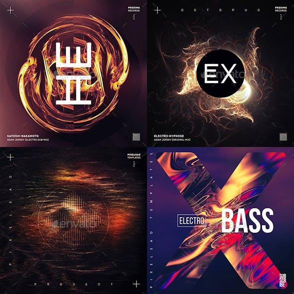 Music Album Cover Artwork Templates Bundle 75