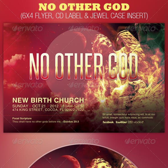 No Other God Church Flyer and CD Template