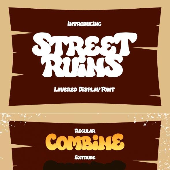 Street Ruins - Layered Display Font