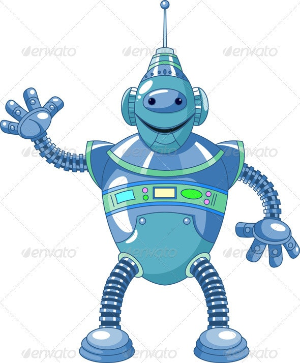Cute cartoon robot - Miscellaneous Characters