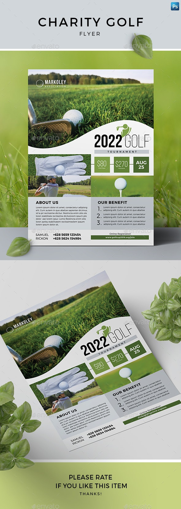 Charity Golf Flyer - Sports Events