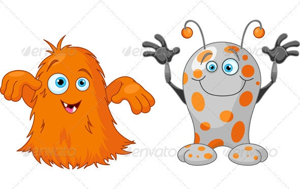 Two cute little monsters - Monsters Characters