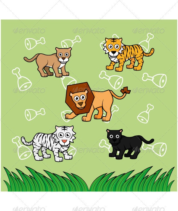 Big Cat Family - Animals Characters