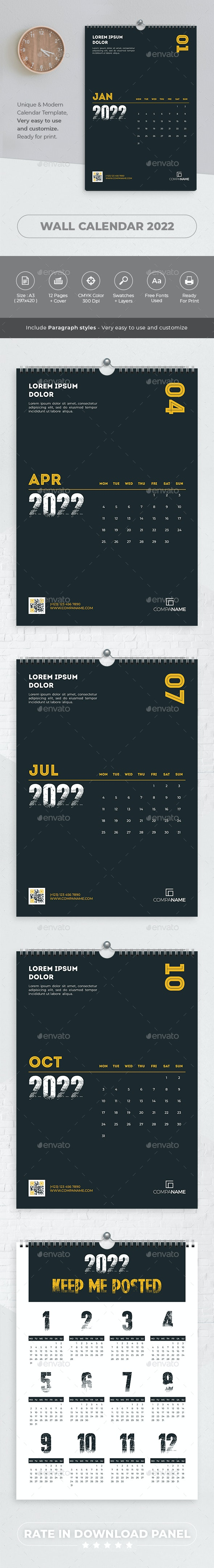 Minimalist Calendar 2022 - Calendars Stationery