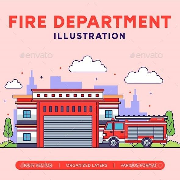 Fire Department Illustration