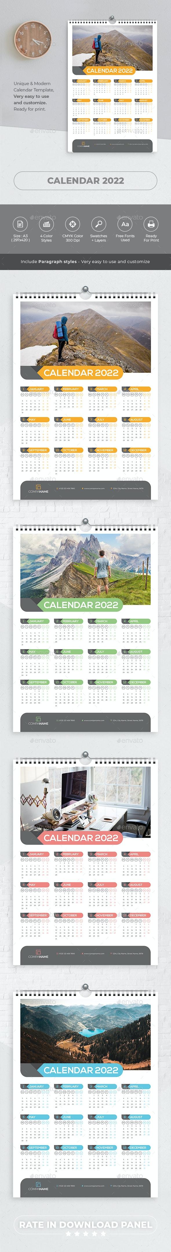 Wall Calendar 2022 - Calendars Stationery