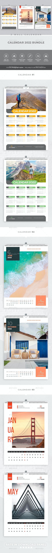 Wall Calendar 2022 Bundle V01 - Calendars Stationery