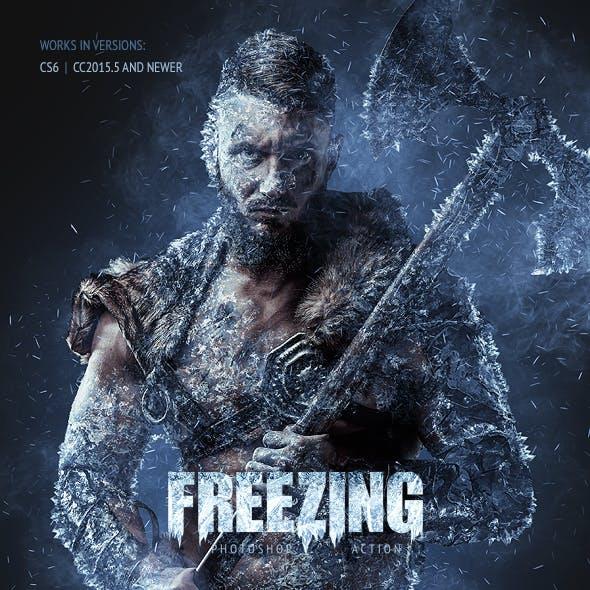 Freezing Photoshop Action