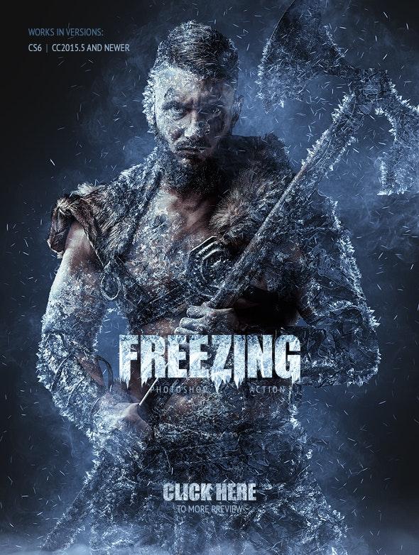 Freezing Photoshop Action - Photo Effects Actions