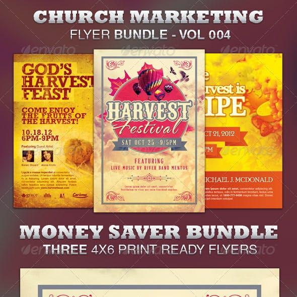 Church Marketing Flyer Bundle Vol-004