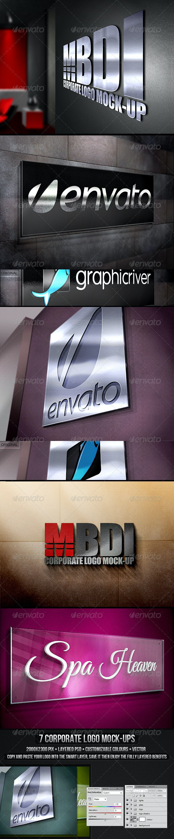 Corporate Logo Mock-up - Logo Product Mock-Ups