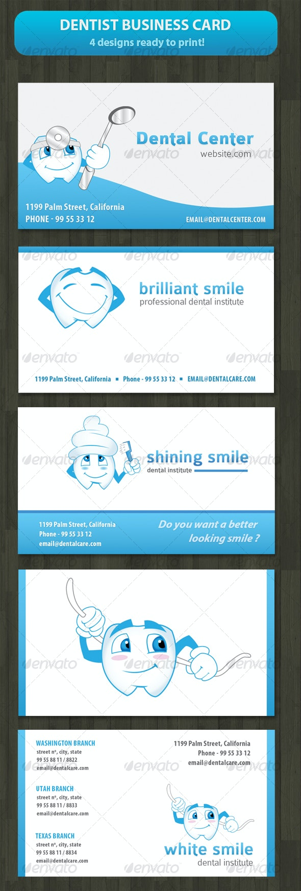 Business card for Dentist or Dental Institute - Industry Specific Business Cards