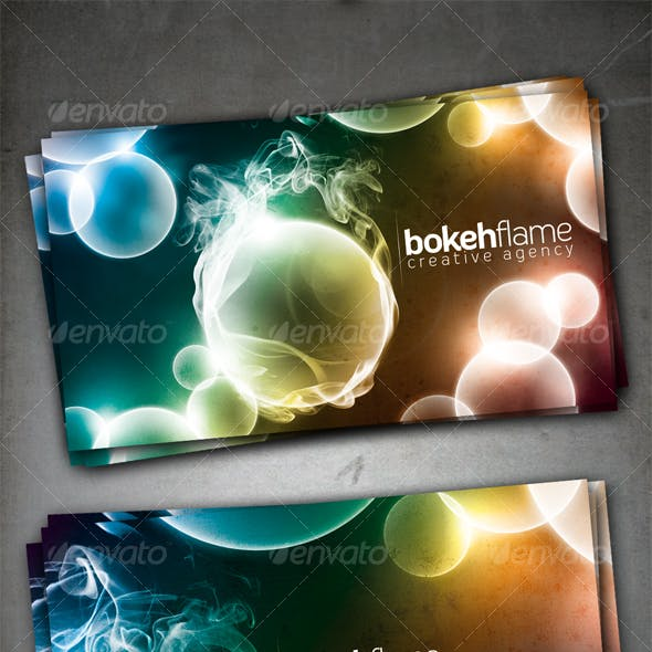 Bokeh Flame Card