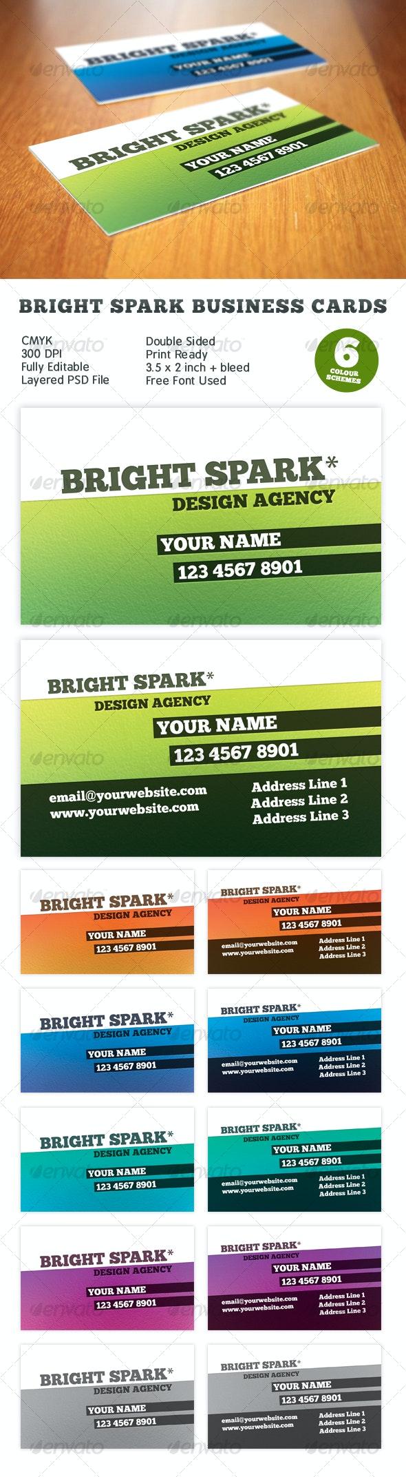 Bright Spark Print Ready Business Card - Creative Business Cards