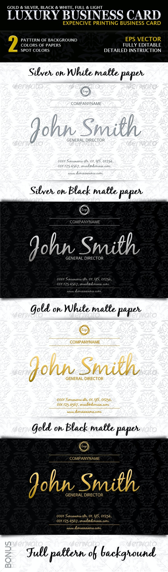 Luxury Business Card - Creative Business Cards