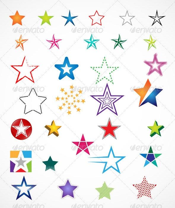 32 Stars Vector - Miscellaneous Vectors