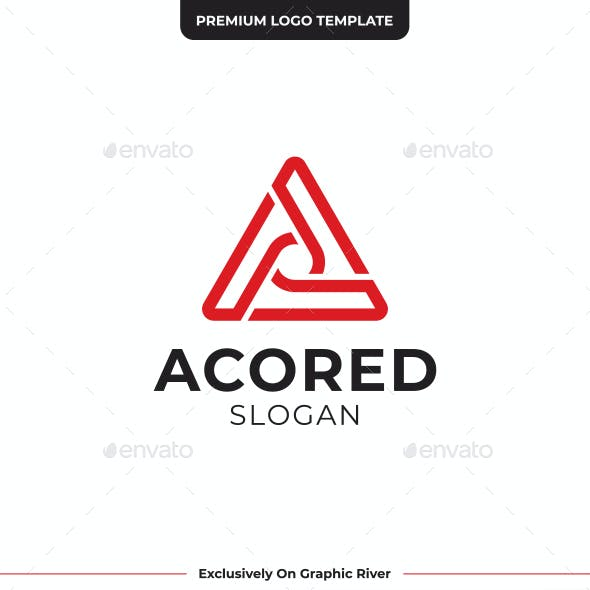 Letter A abstract logo design.