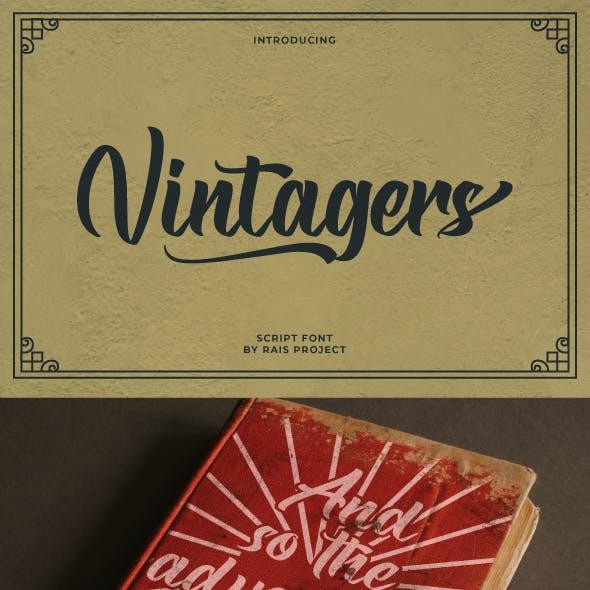 Vintagers Brush Font