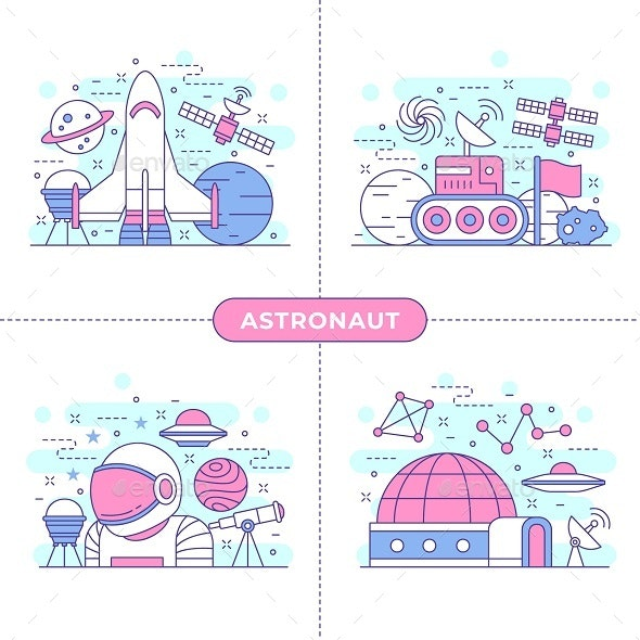 Astronaut Concept Illustration - Technology Conceptual