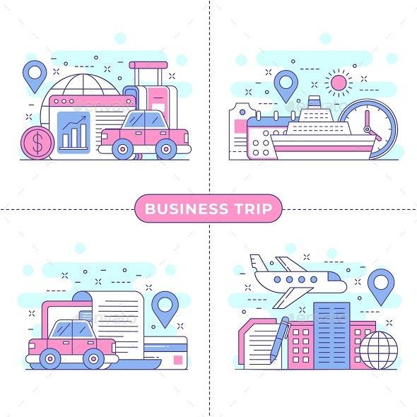 Business Trip Concept Illustration - Business Conceptual