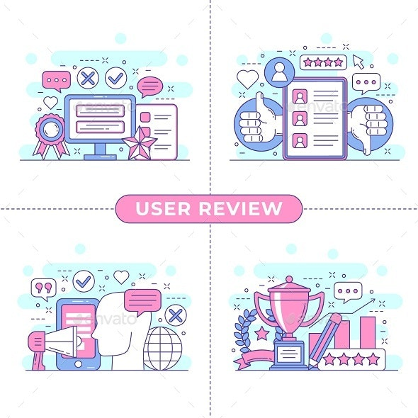 User Review Concept Illustration - Commercial / Shopping Conceptual