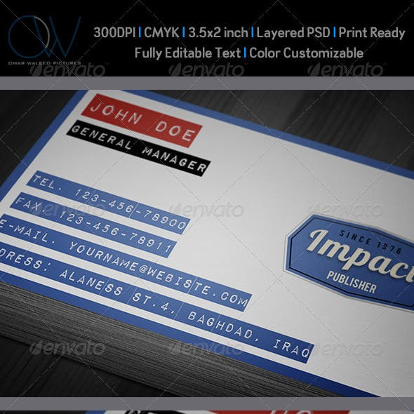 Impact Label Business Card