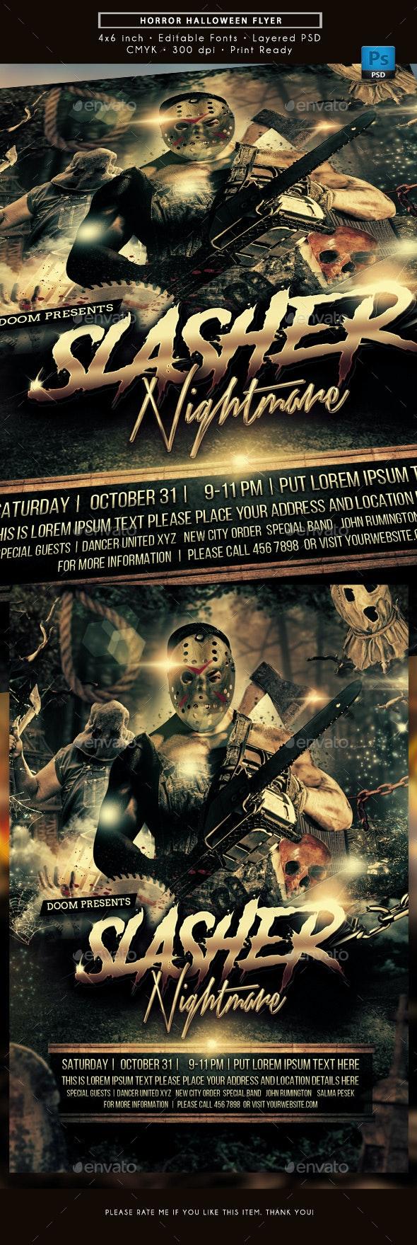 Horror Halloween Flyer - Holidays Events