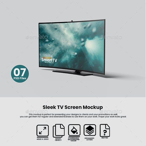 Sleek TV Screen Mockup