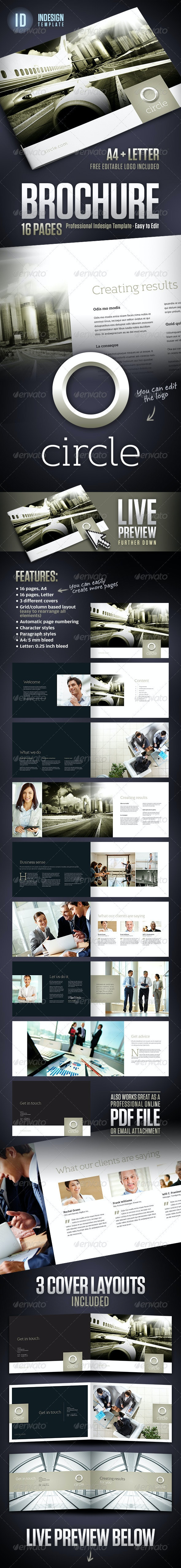 Circle - Corporate Business Brochure A4 + Letter - Corporate Brochures