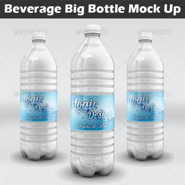Beverage Big Bottle Mock Up
