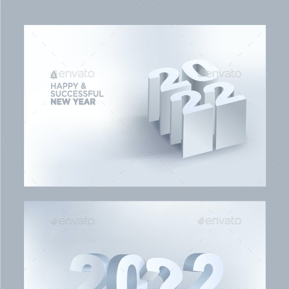 Christmas and New Year 2022 Greeting Cards and Banners