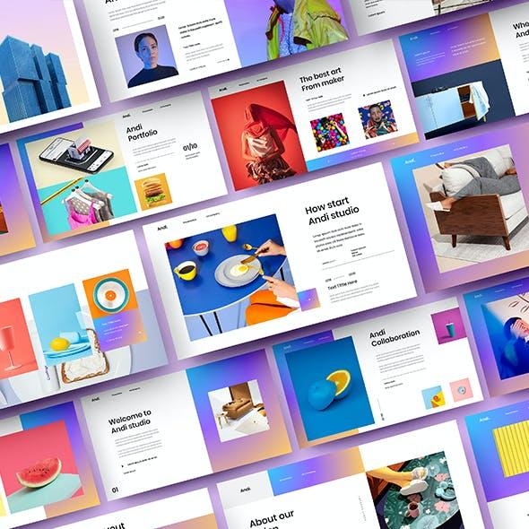 Andi – Business Google Slides Template